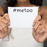paper that reads #metoo as result of sexual harassment